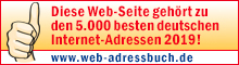 Diese Webseite gehört zu den 5.000 besten deutschen Internet-Adressen 2019