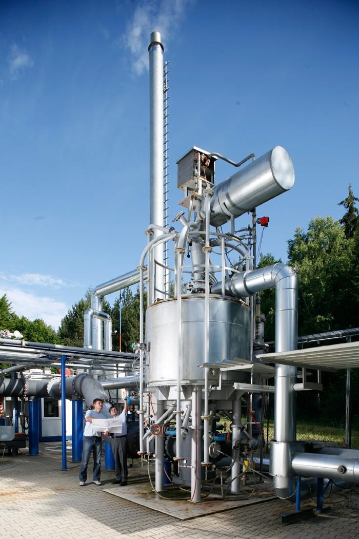 Hochtemperaturspeicher bei Fraunhofer UMSICHT in Sulzbach-Rosenberg (Bild: Fraunhofer UMSICHT)
