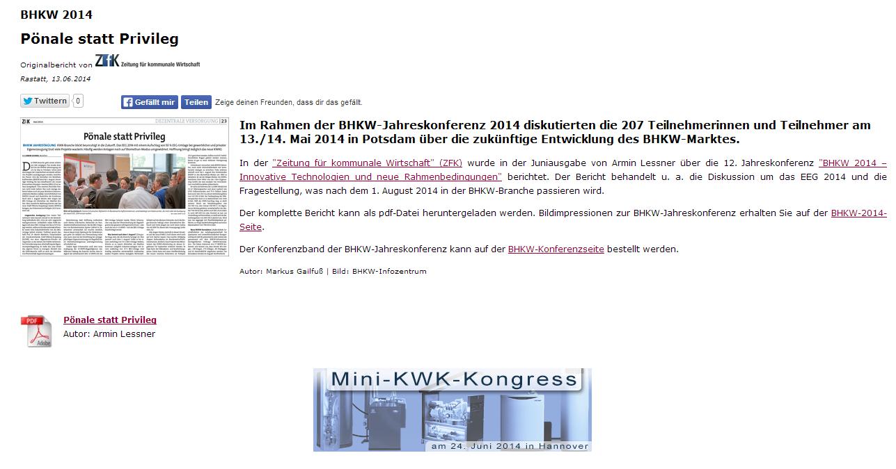 """ZfK-Bericht """"Pönale statt Privileg"""""""