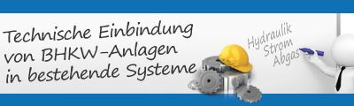 Technische Einbindung von BHKW-Analgen