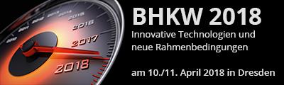 BHKW 2018 – Innovative Technologien und neue Rahmenbedingungen