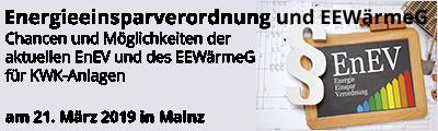 Intensivseminar zur Energieeinsparverordnung und zum EEWärmeG