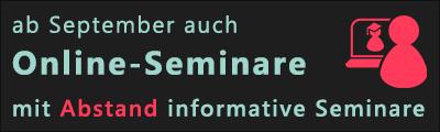 Seminare und Veranstaltungen - Online und Präsenz