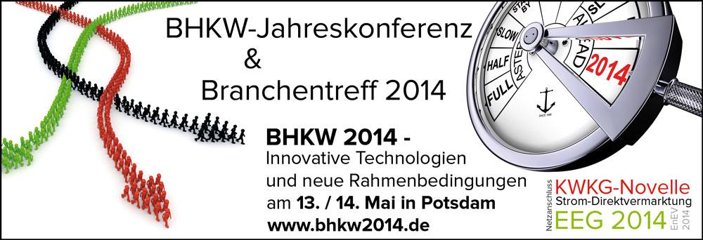 BHKW-Jahreskonferenz und BHKW-Branchentreff 2014 (Bild: BHKW-Infozentrum, fotolia)