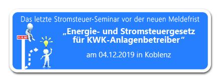 Energie- und Stromsteuergesetz für KWK-Anlagenbetreiber