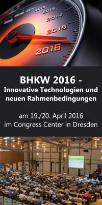 BHKW 2016 – Innovative Technologien und neue Rahmenbedingungen