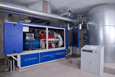 BHKW-Infozentrum informiert aktuell über Blockheizkraftwerke (BHKW) - Bild einer BHKW-Anlage im Albgaubad Ettlingen