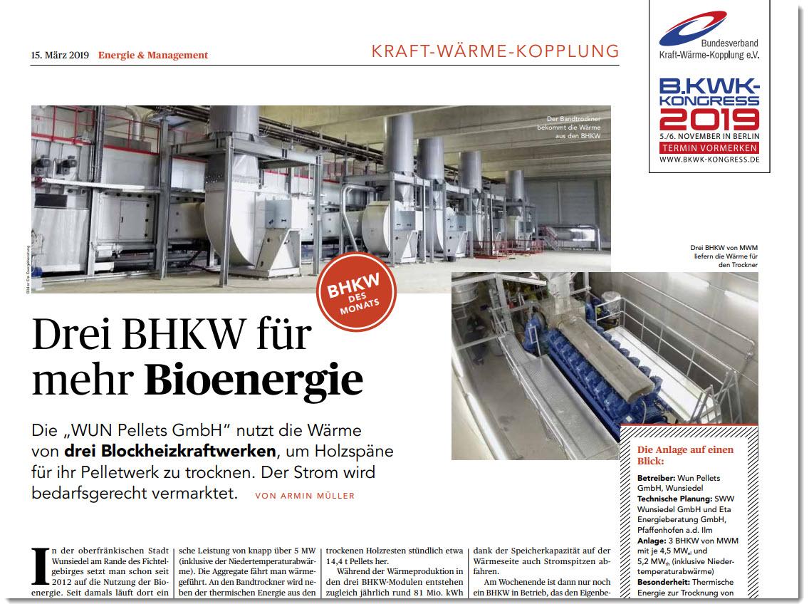 Drei BHKW für mehr Bioenergie