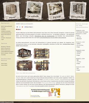 Screenshot des BHKW-Gebrauchtmarktes