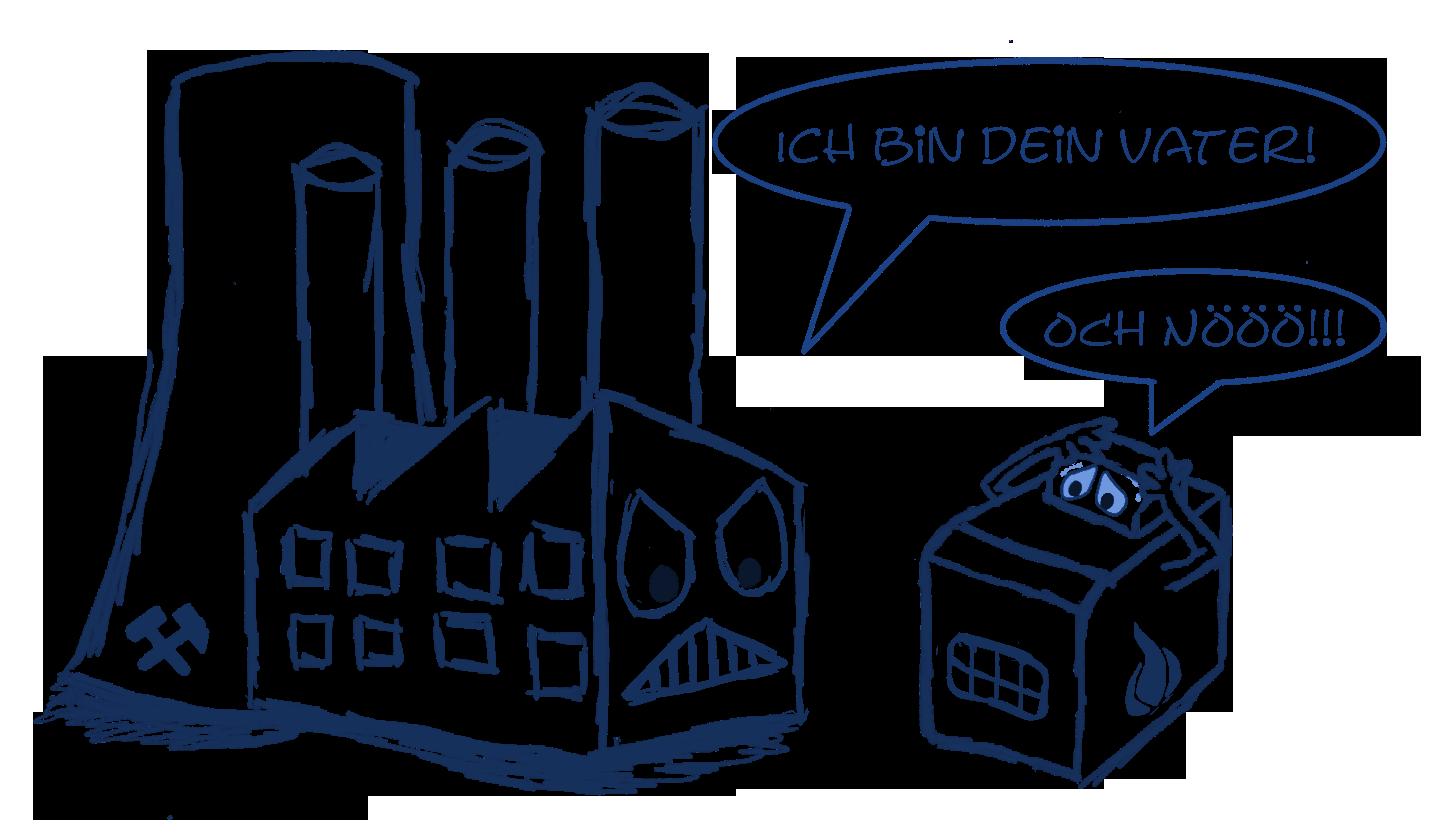 Gasbetriebene hocheffiziente Blockheizkraftwerke können durch Ersetzung von kohlebefeuerten Heizkraftwerken zur Dekarbonisierung beitragen