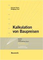 """Titelseite des Buches """"Kalkulation von Baupreisen"""""""
