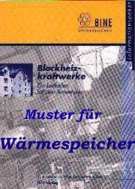"""Titelseite des Buches """"Wärmespeicher"""""""