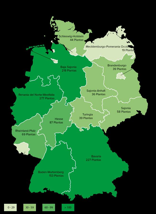 Förderung von Mini-KWK-Anlagen bis 20 kW elektrisch, geförderte Anlagen nach Bundesländern - Jahr 2014 (Quelle: BAFA)