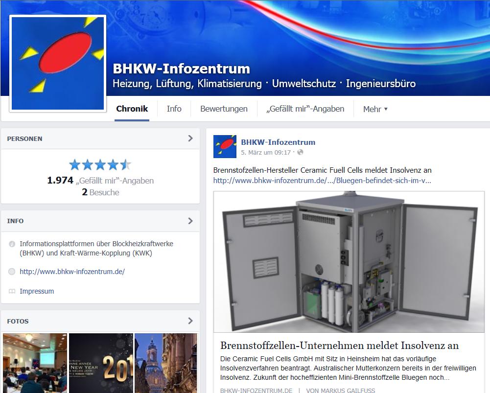 Das BHKW-Infozentrum informiert auch auf sozialen Netzwerken über BHKW und KWK (Bild: BHKW-Infozentrum)
