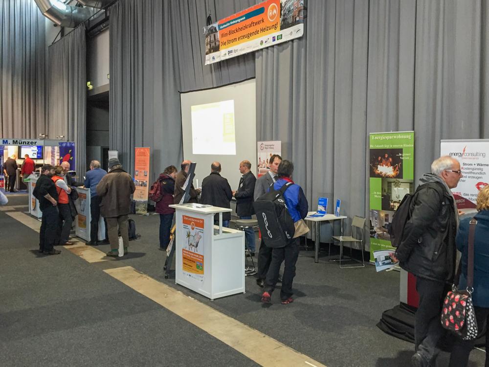 Gebäude.Energie.Technik 2015 in Freiburg vom 27.02.-01.03. (Bild: BHKW-Infozentrum)