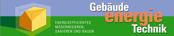 Gebäude-Energie.Technik - Messe vom 11.-13. April in Freiburg mit Sonderschau