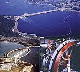 Gezeitenkraftwerk in Saint-Malo (Frankreich)