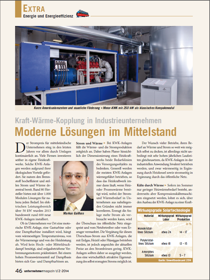 """Bericht """"Moderne Lösungen im Mittelstand"""" der Fachzeitschrift """"unternehmermagazin"""""""