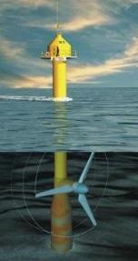 Seaflow-Anlage mit einem Rotor - Pilotanlage (Bildquelle: MCT)