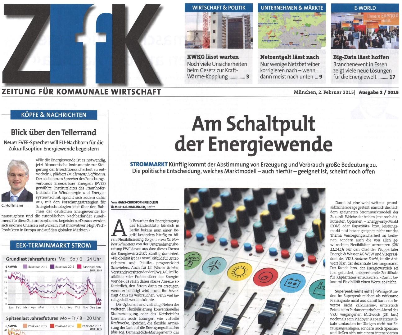 Titelbseite der ZFK Ausgabe 02/2015 (Bild: ZFK)