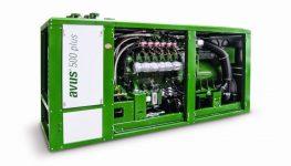 Kompakte Leistung: »avus 500 plus« mit einer elektrischen Leistung von 550 kW und einem Gesamtwirkungsgrad von 85 % und mehr.