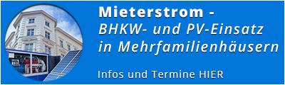 Seminar Mieterstrom - Termine und Anmeldung