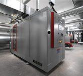 BHKW-Kompaktmodul GG 330 in der Energieverbundzentrale Waldbronn (Quelle: EnBW)