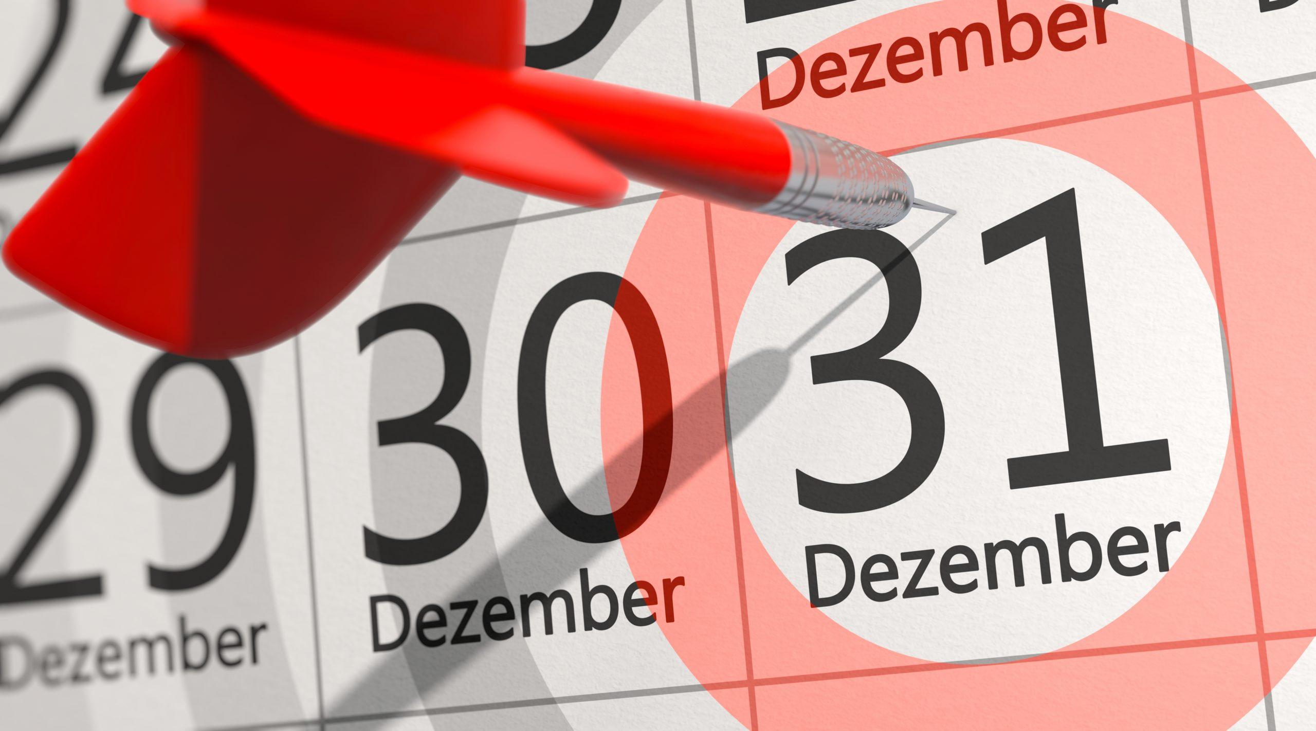 Meldungen und Anträge zum Jahresende nicht vergessen