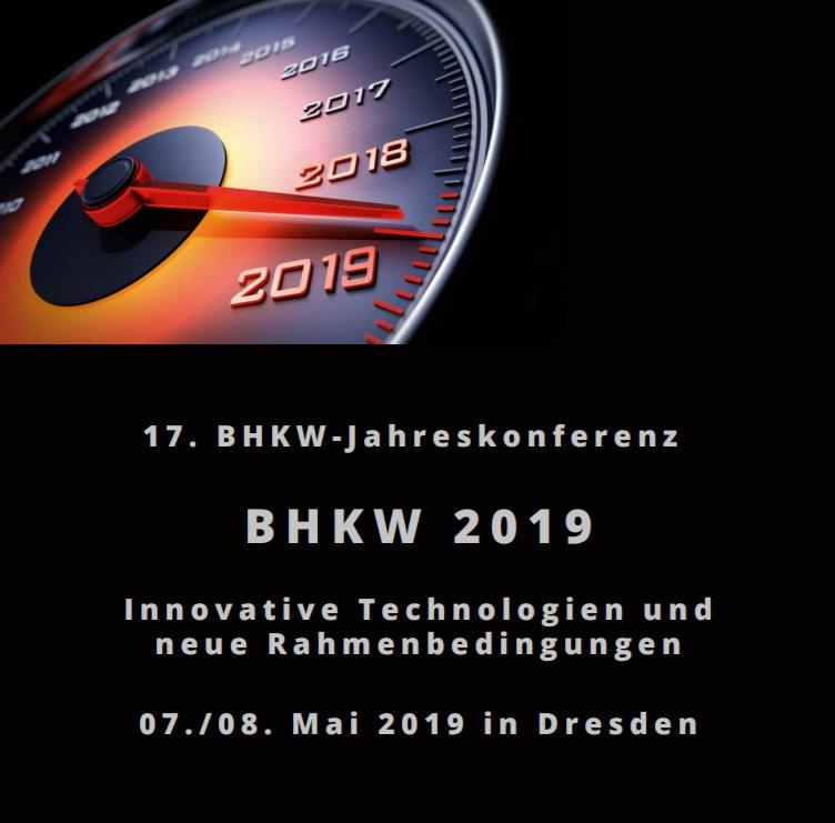 Programm des BHKW-Jahreskongresses 2019 veröffentlicht