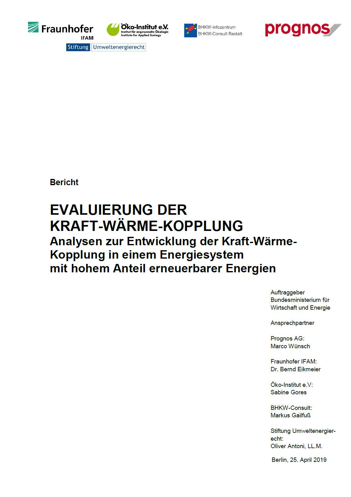 KWK-Evaluierungsbericht 2019 veröffentlicht