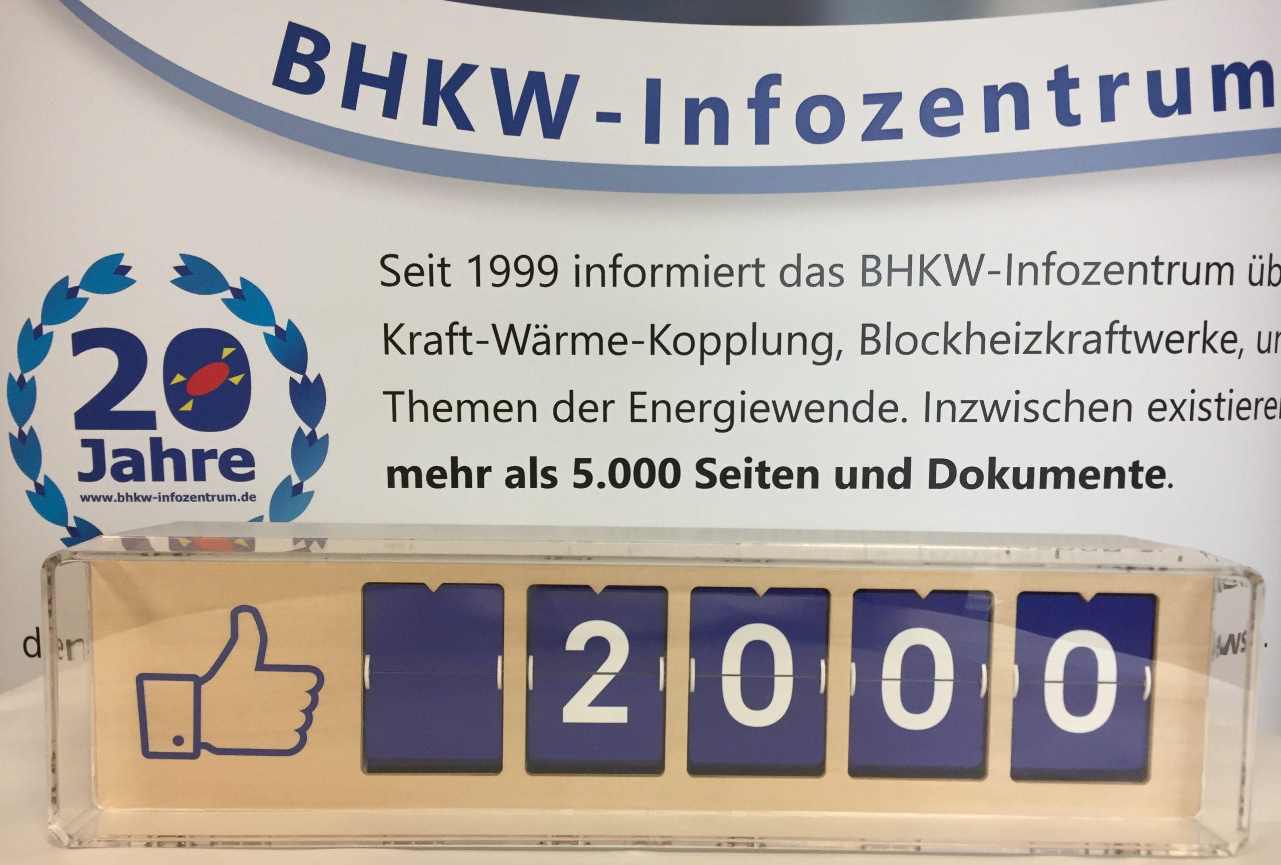 BHKW-Infozentrum freut sich über mehr als 2.000 Facebook-Likes