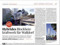 Hybrides Blockheizkraftwerk für Walldorf