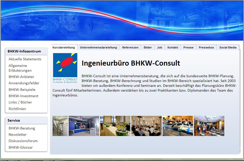 Aktuelle Informationen mit kostenlosem Newsletter zu Blockheizkraftwerken, Mini-BHKW sowie die Planung von BHKW- und KWK-Anlagen.