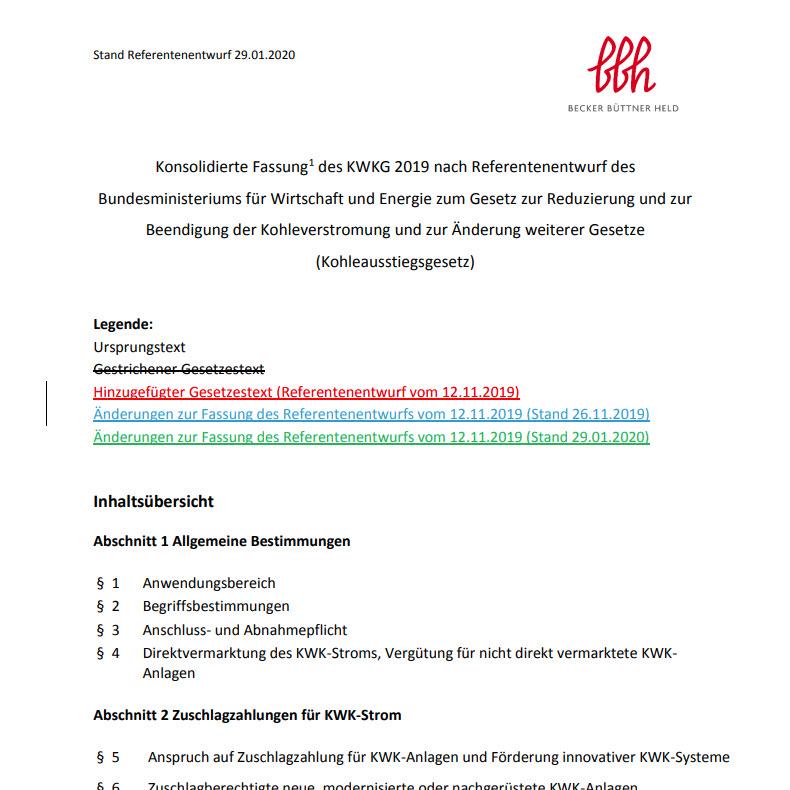 Konsolidierte Fassung des KWKG 2019